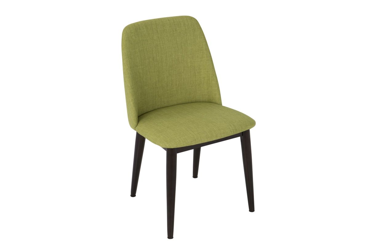 Tintori mid century dining chairs in green fabric by for White fabric dining chairs