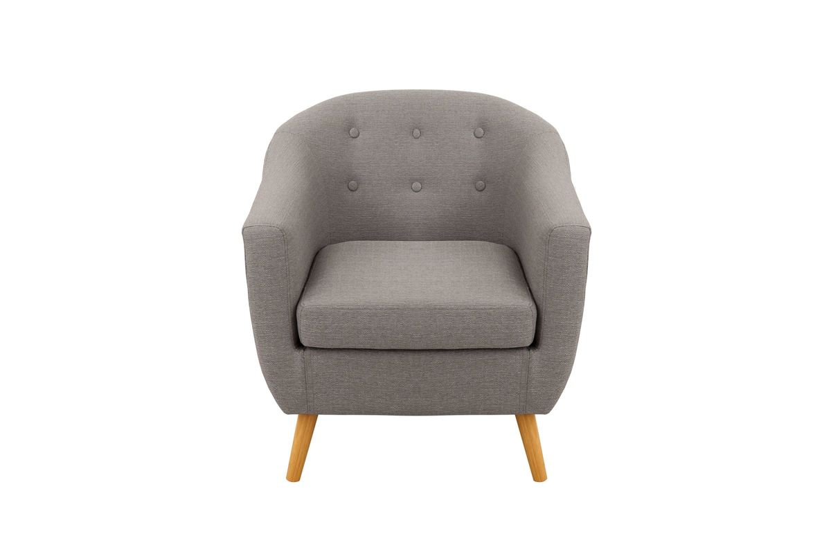 Rockwell Mid Century Modern Accent Chair In Light Grey By