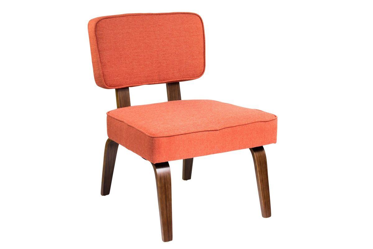 nunzio mid century modern accent chair in deep orange by. Black Bedroom Furniture Sets. Home Design Ideas