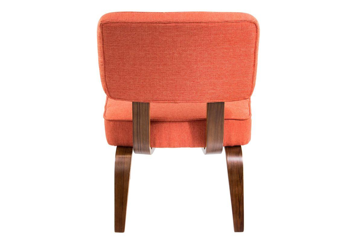 Nunzio Mid Century Modern Accent Chair In Deep Orange By