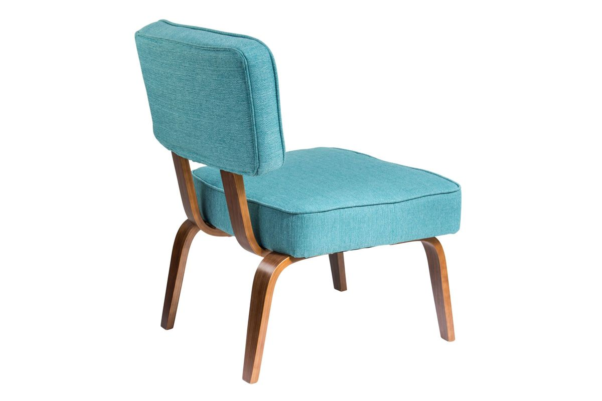 nunzio mid century modern accent chair in teal by lumisource. Black Bedroom Furniture Sets. Home Design Ideas