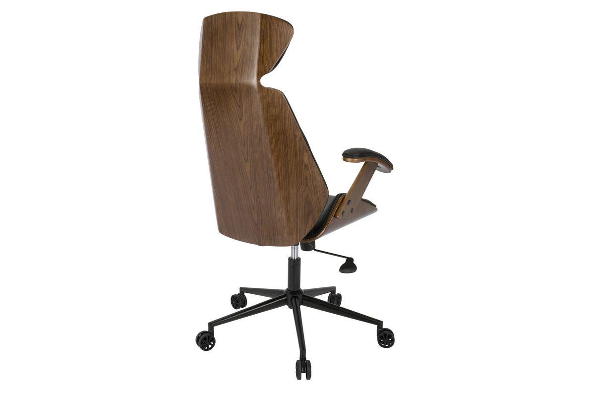 Spectre mid century modern walnut wood office chair in