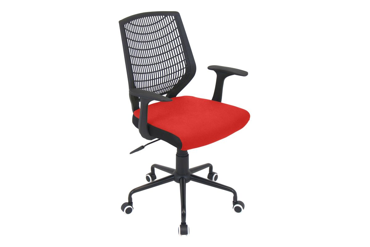 Network Height Adjustable Office Chair With Swivel In Red By LumiSource