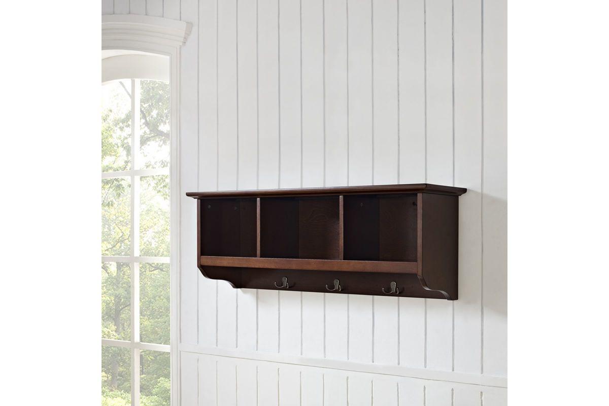 Brennan Entryway Storage Shelf In Mahogany By Crosley