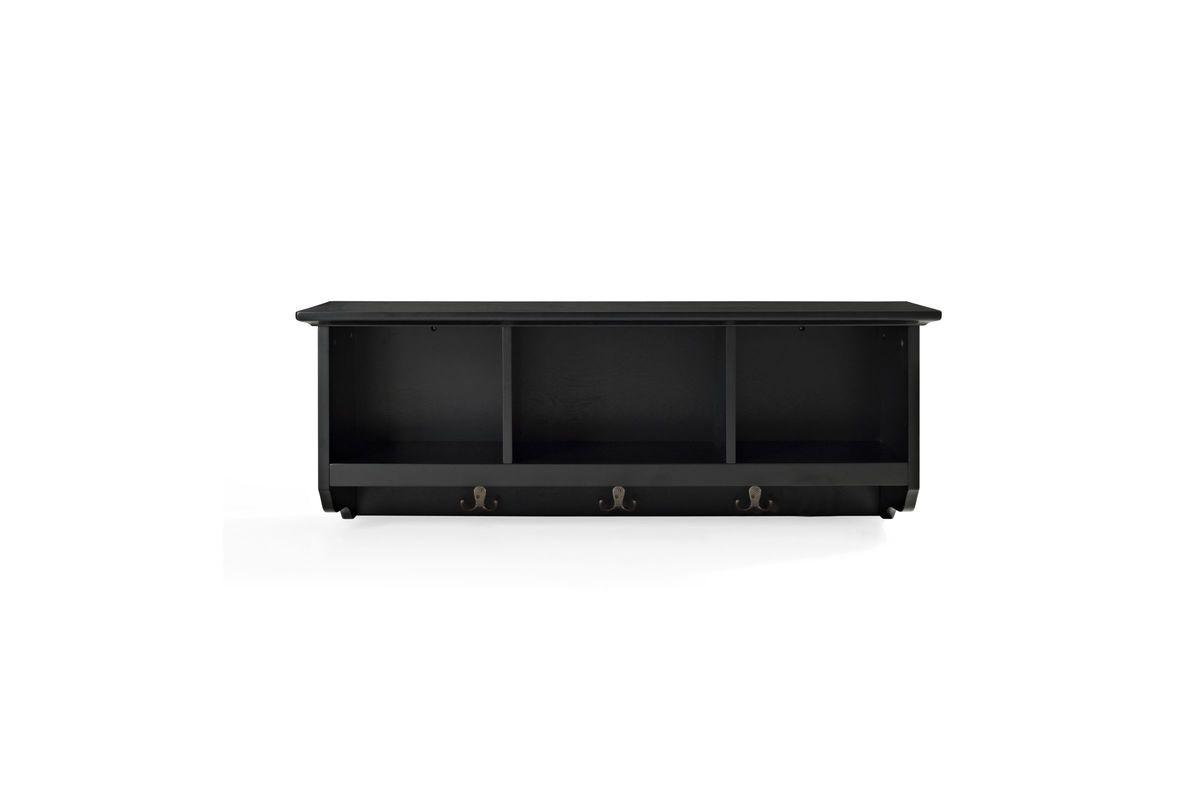 Brennan Entryway Storage Shelf In Black By Crosley