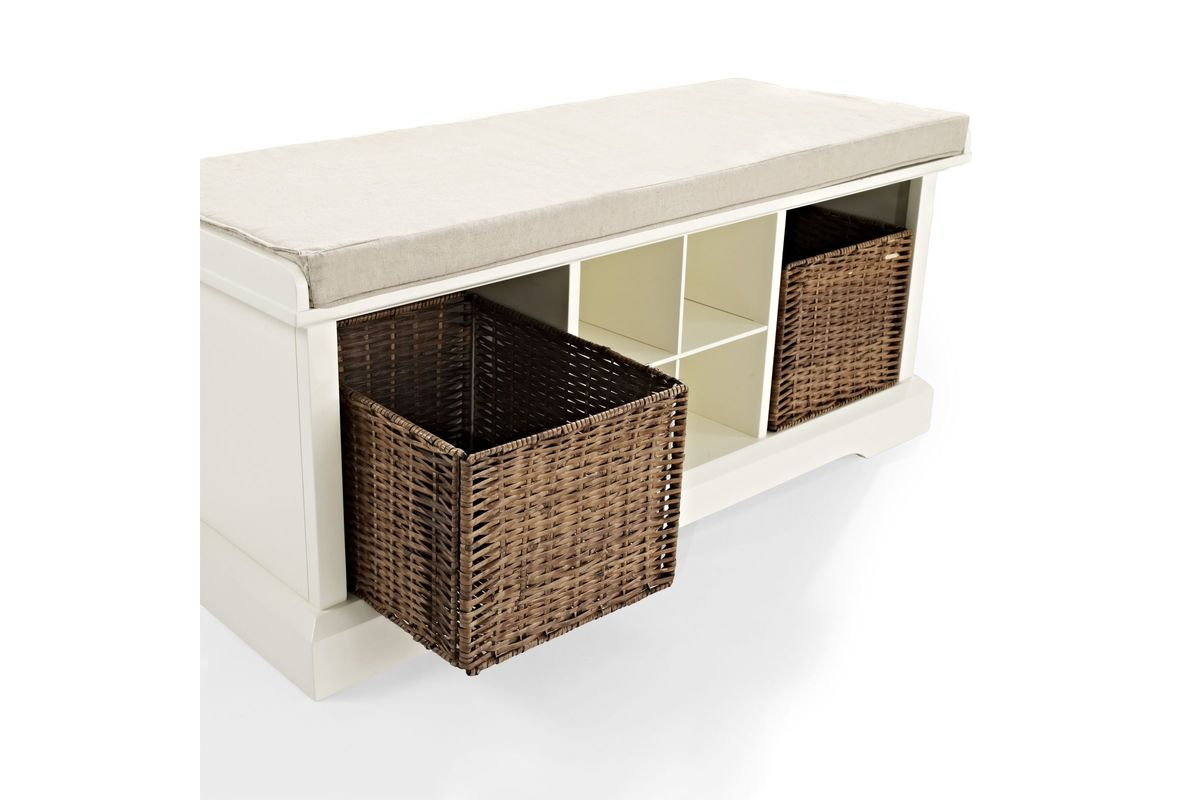 Brennan Entryway Storage Bench In White By Crosley At Gardner White
