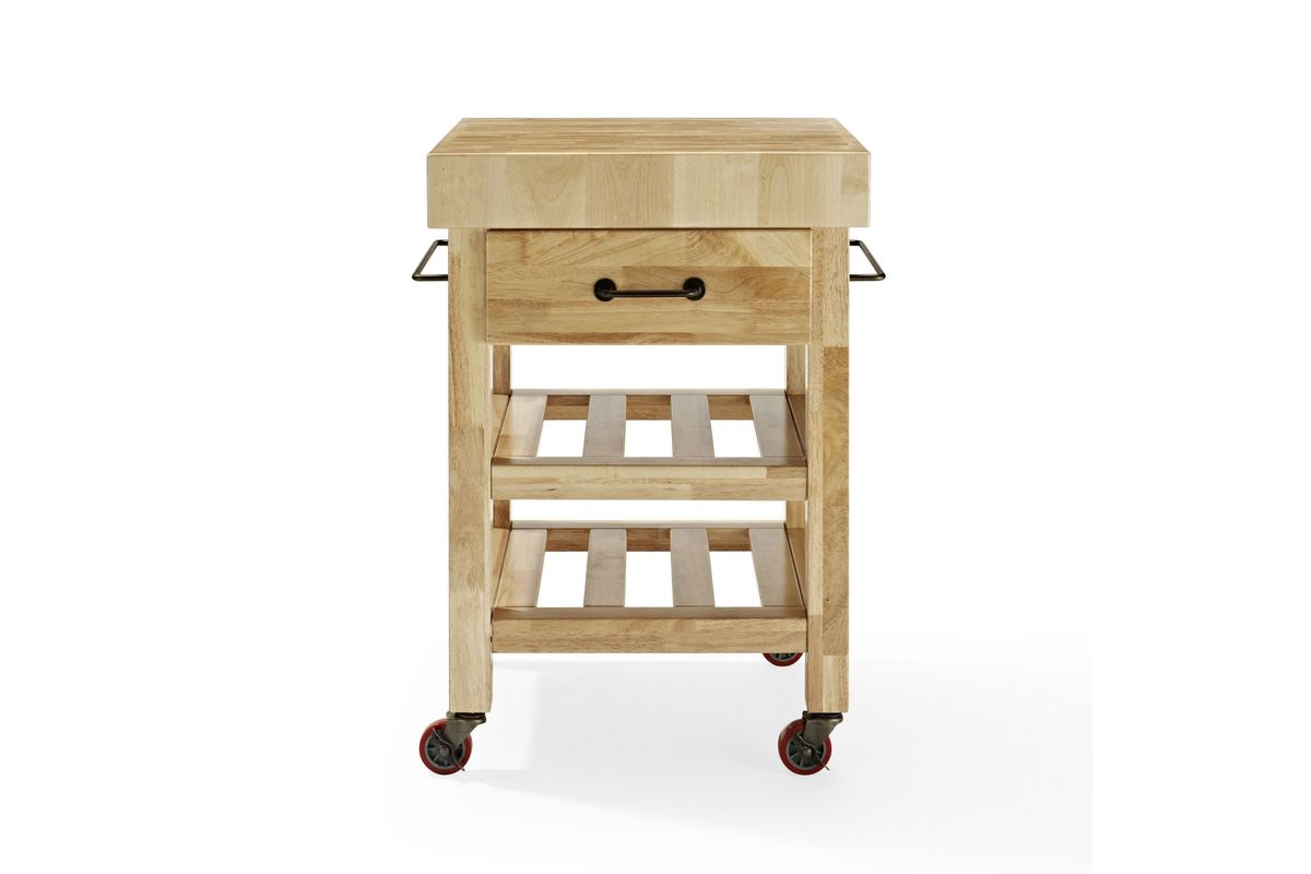 Marston Butcher Block Kitchen Cart In Natural By Crosley