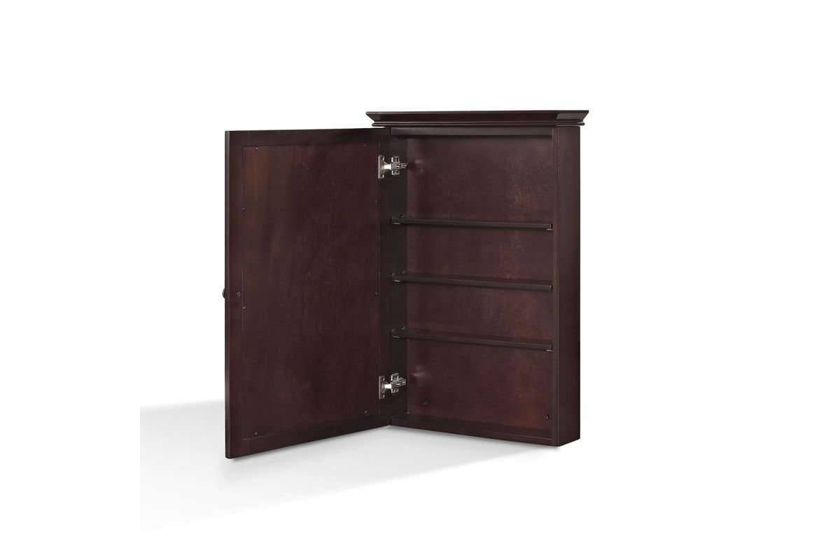 Lydia Mirrored Wall Cabinet In Espresso By Crosley At