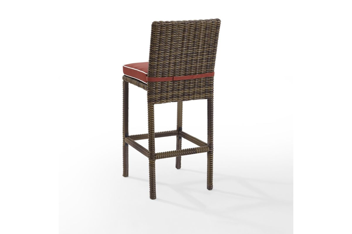 Bradenton Outdoor Wicker Bar Height Stools Set of 2 with  : 723621200x800 from www.gardner-white.com size 1200 x 800 jpeg 53kB