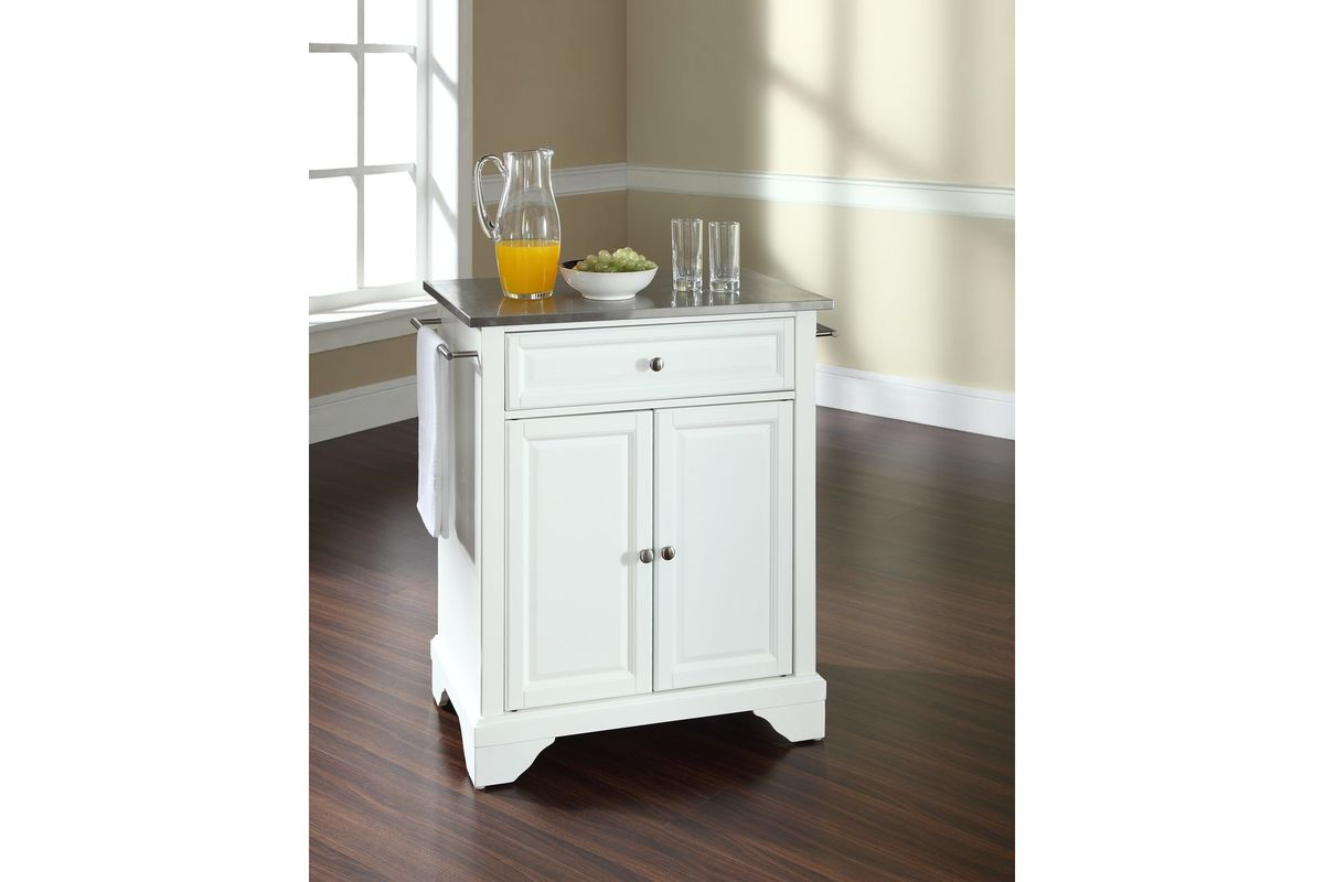 lafayette stainless steel top portable kitchen island in