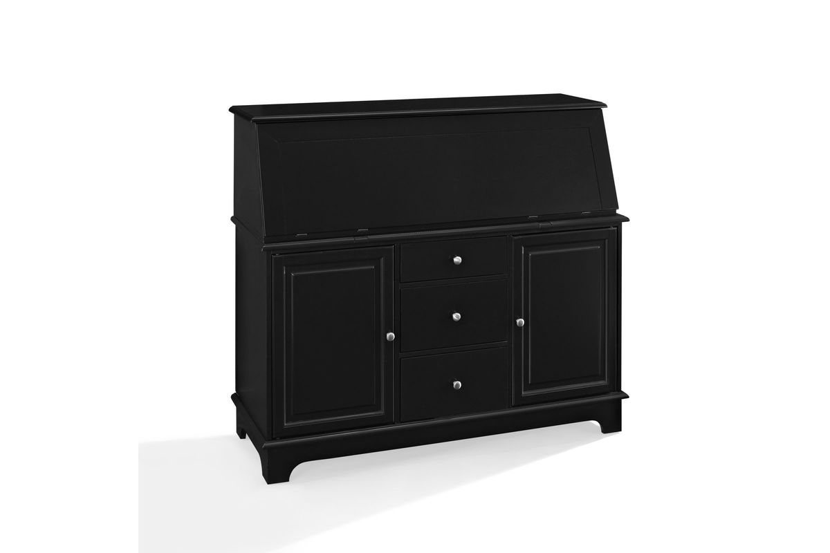 Sullivan Secretary Desk In Black Finish By Crosley At