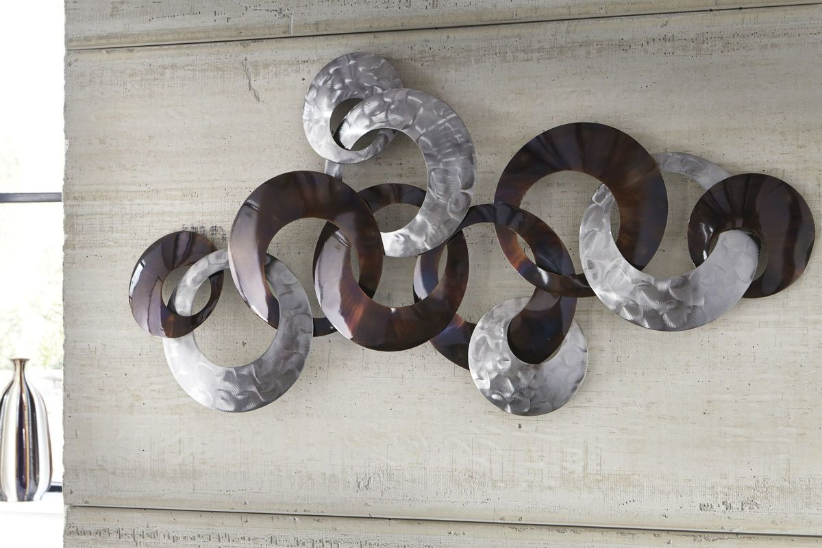 Obike Wall Decor In Silver Finish Purple By Ashley At