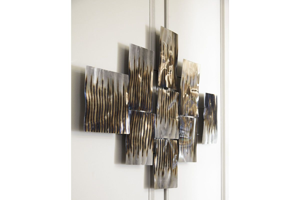 Oeneus Wall Decor In Silver Brown Gold Finish By Ashley