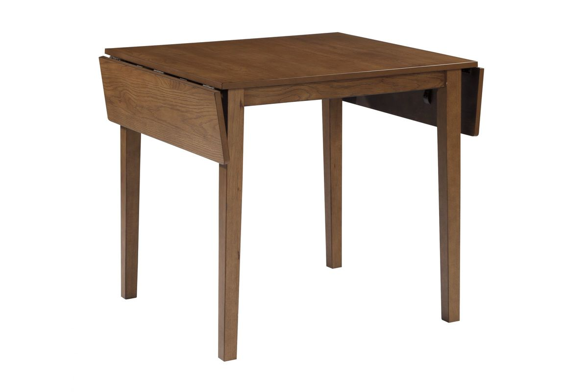 Joveen dining room drop leaf table in light brown by for White dining room table with leaf