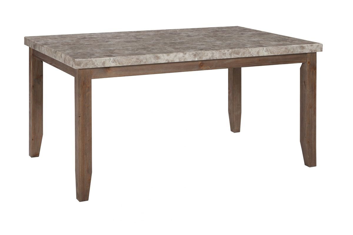 narvilla rectangular dining room table in two tone by ashley from