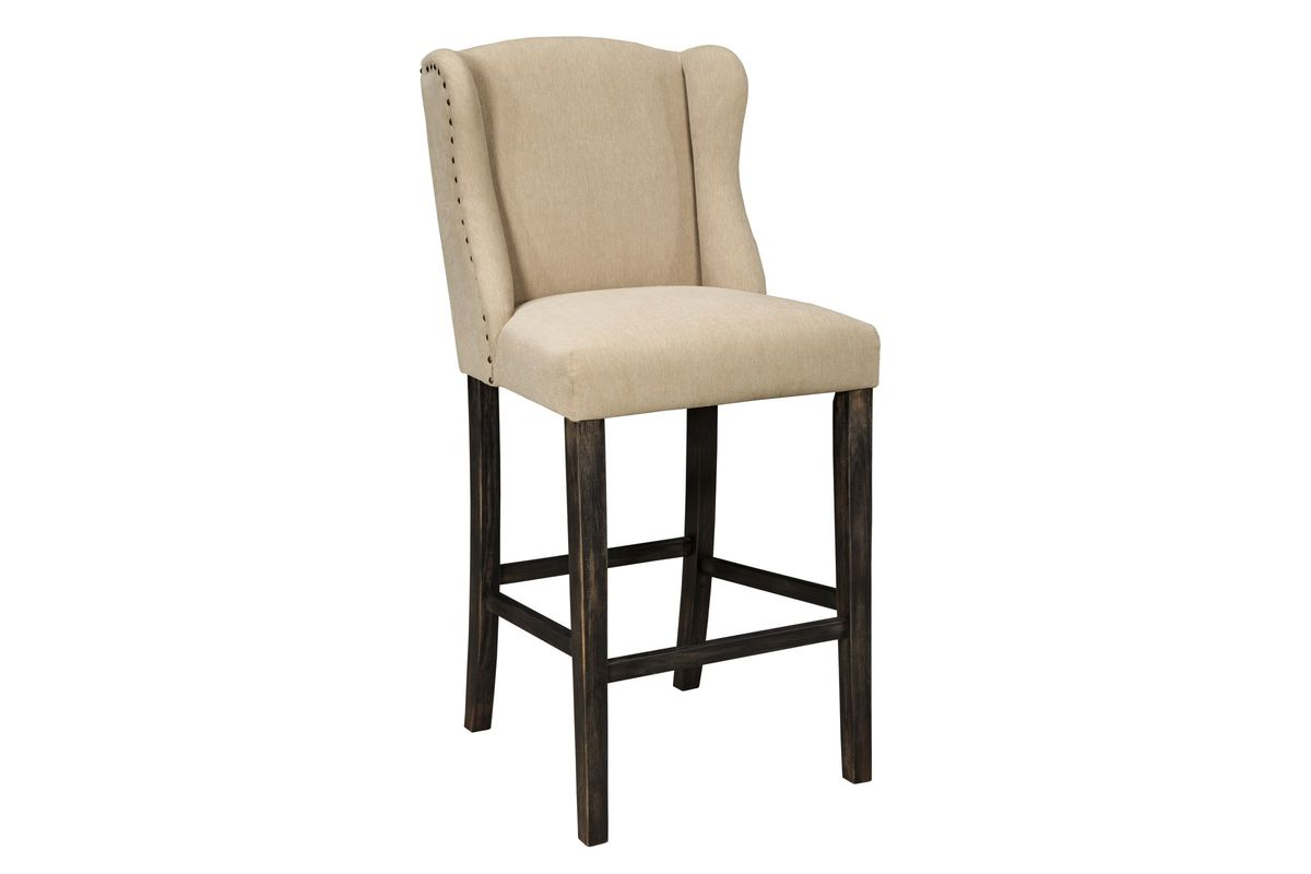 Moriann Tall Barstools In Light Beige Set Of 2 By Ashley