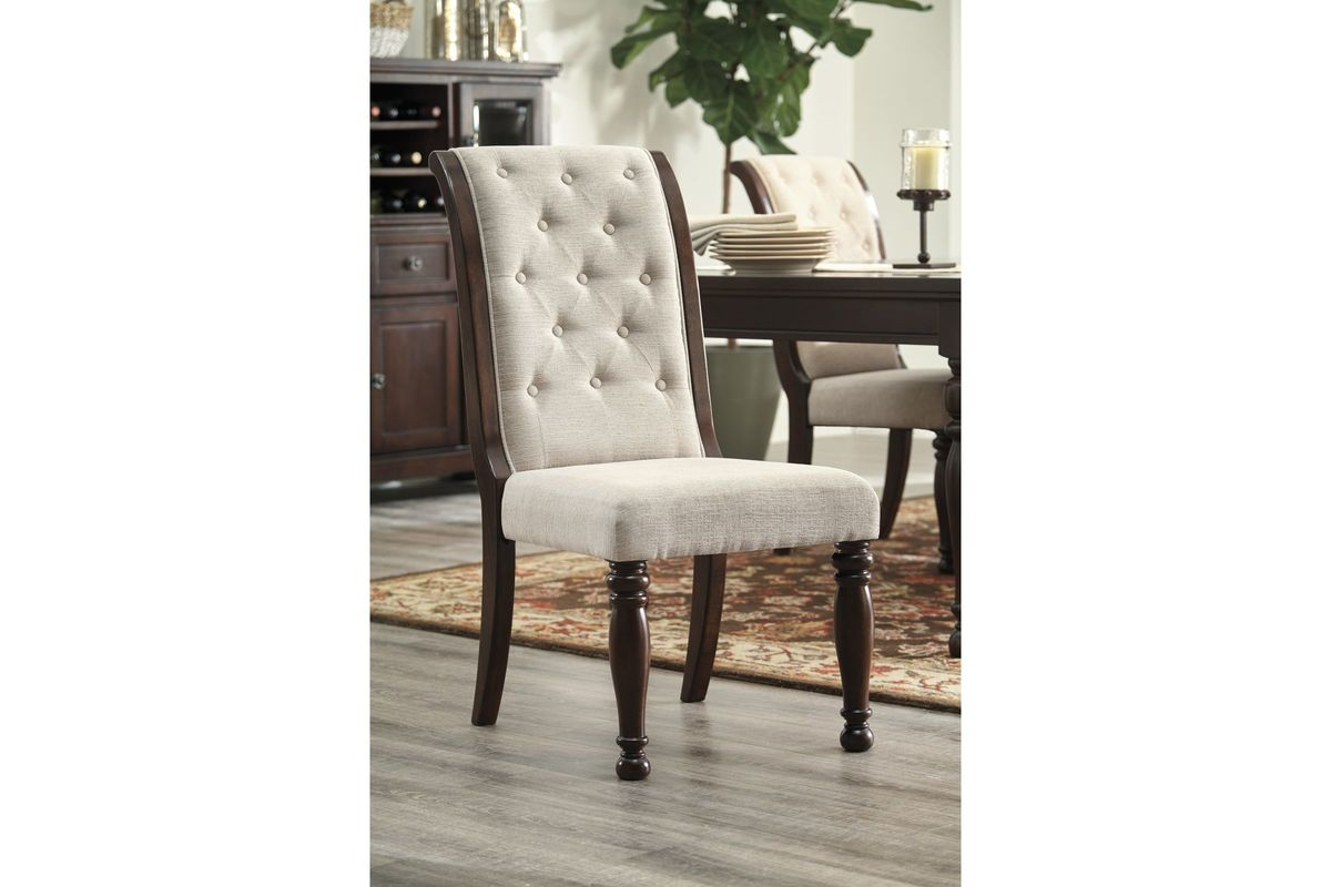 Porter Dining Side Chairs In Rustic Brown Set Of 2 By Ashley