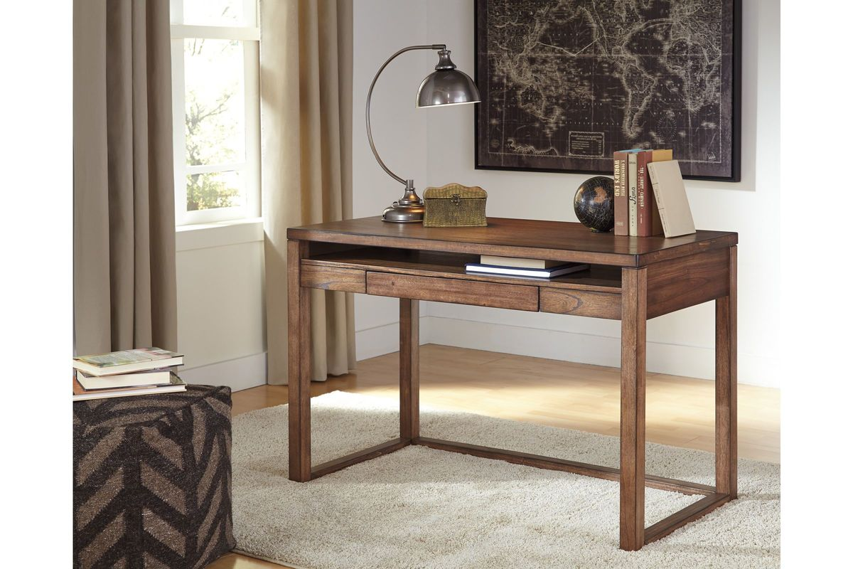 Baybrin Home Office Small Desk In Rustic Brown By Ashley