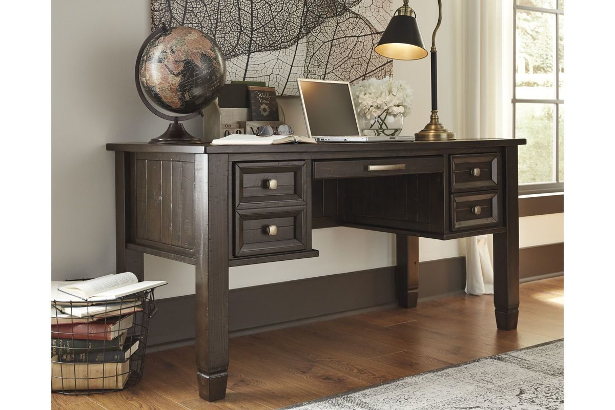 townser home office desk in grayish brown by ashley