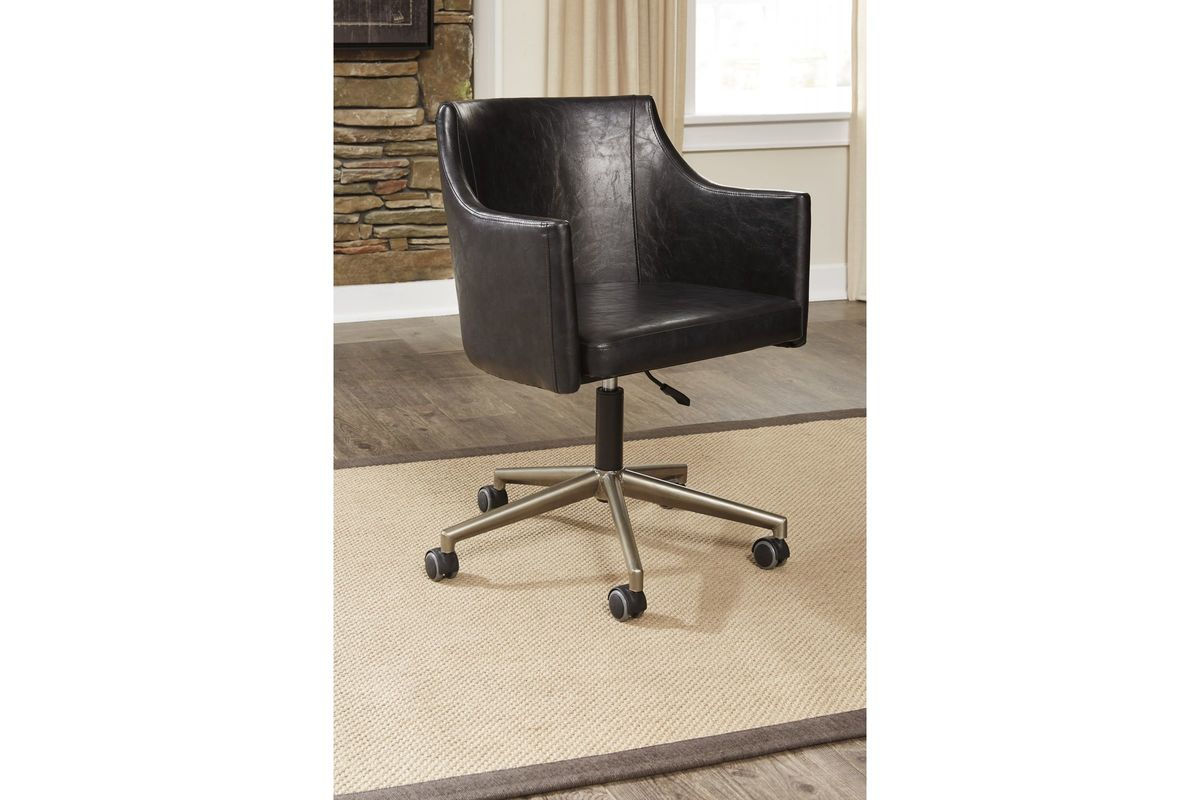 tremile home office desk chair in brown by ashley fdrop 170109 from