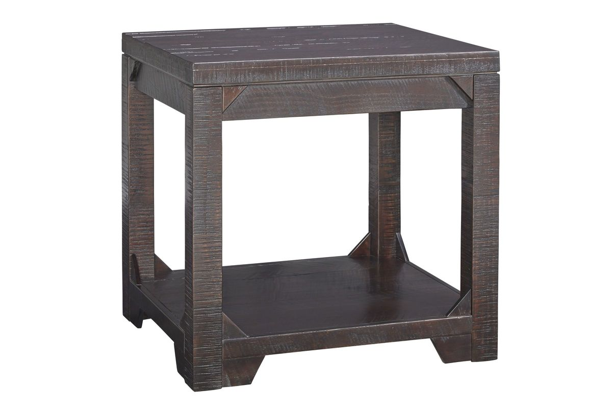 Rogness Rectangular End Table In Rustic Brown By Ashley