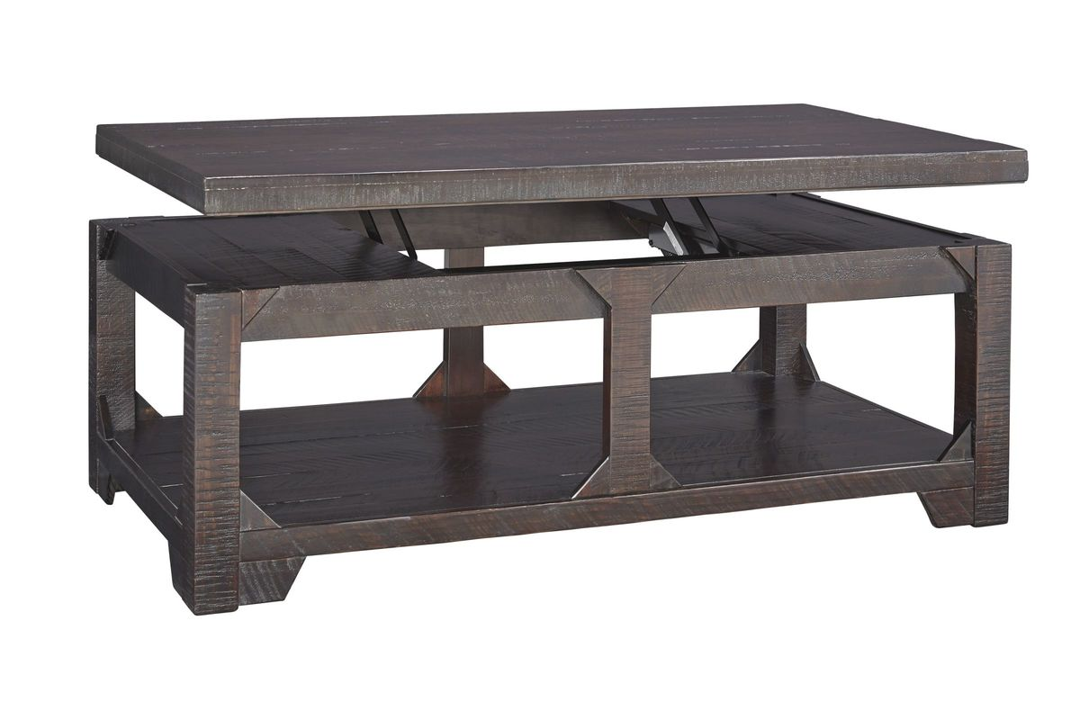 Rogness Lift Top Cocktail Table In Rustic Brown By Ashley