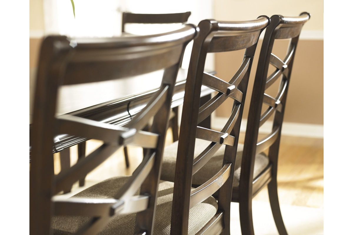Hayley Dining Side Chairs In Dark Brown Set Of 2 By