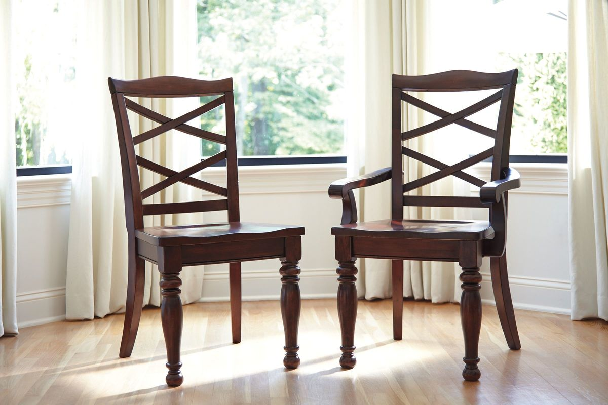 porter dining room side chairs in rustic brown set of 2