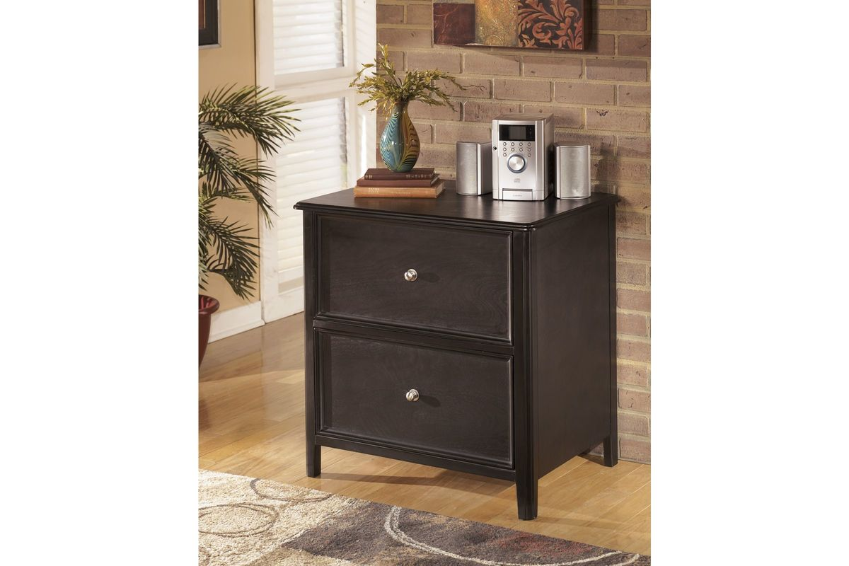 Carlyle Lateral File Cabinet In Almost Black By Ashley