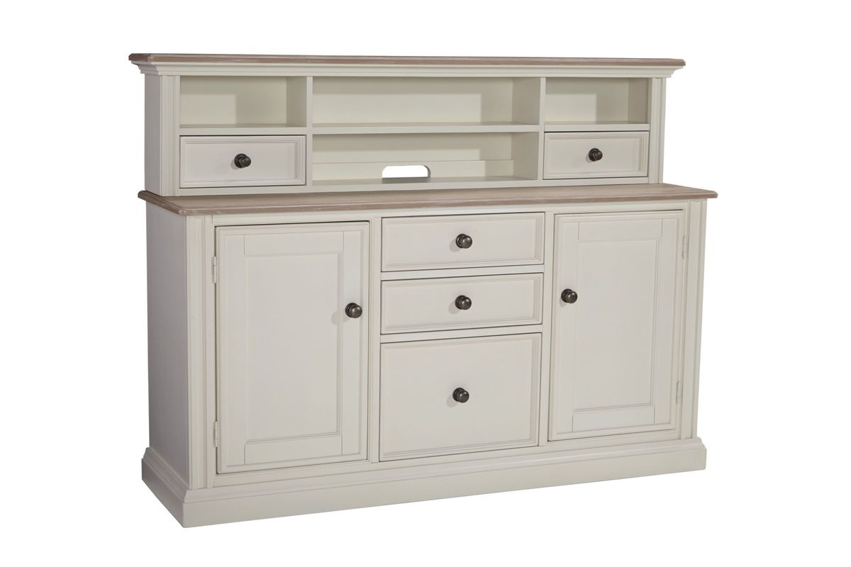 Sarvanny Home fice Short Desk Hutch in Two tone by