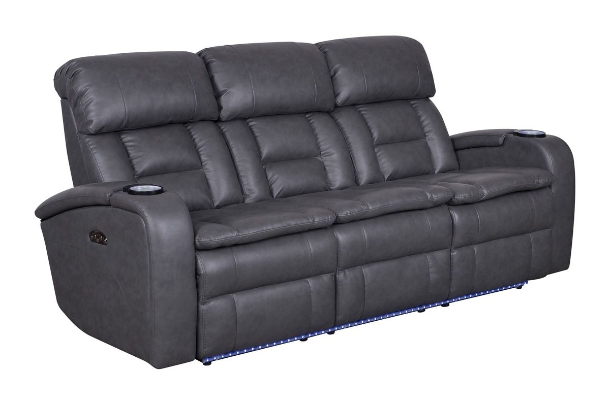 Zenith power reclining sofa with drop down table at for Sectional sofa with drop down table