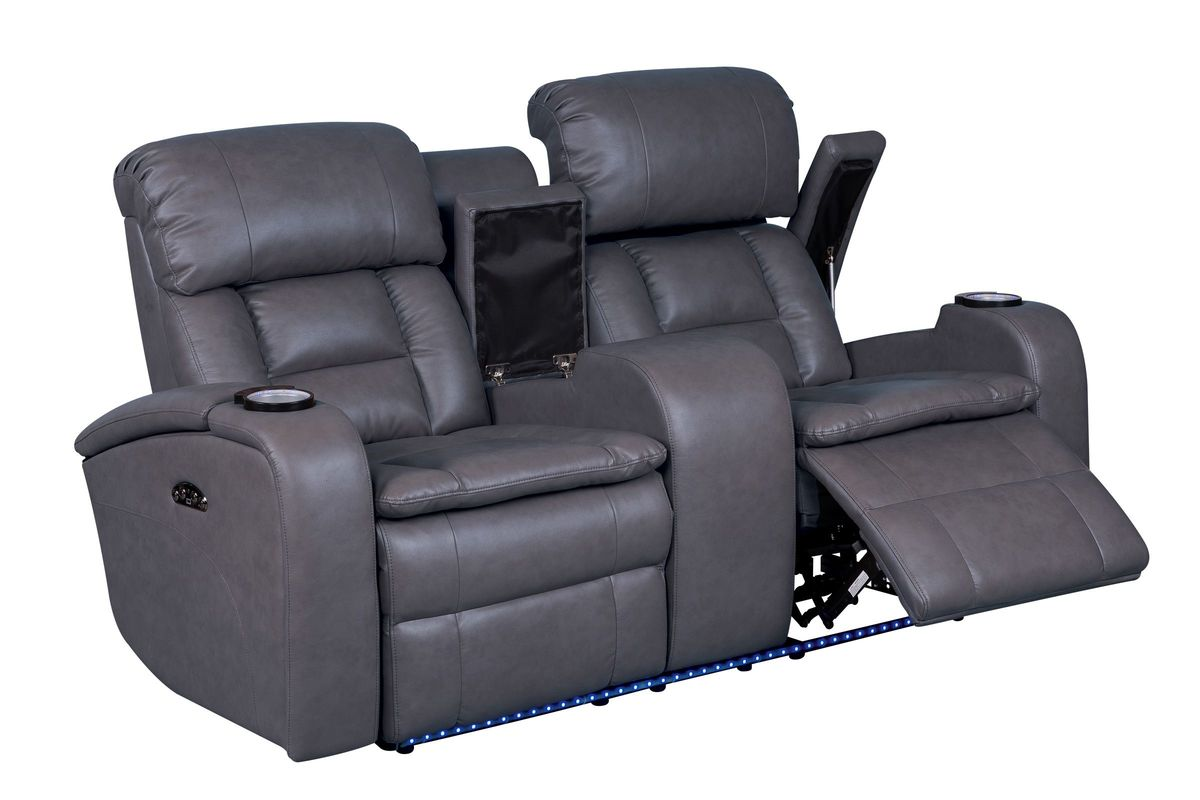 Zenith power reclining loveseat with console Reclining loveseat with center console