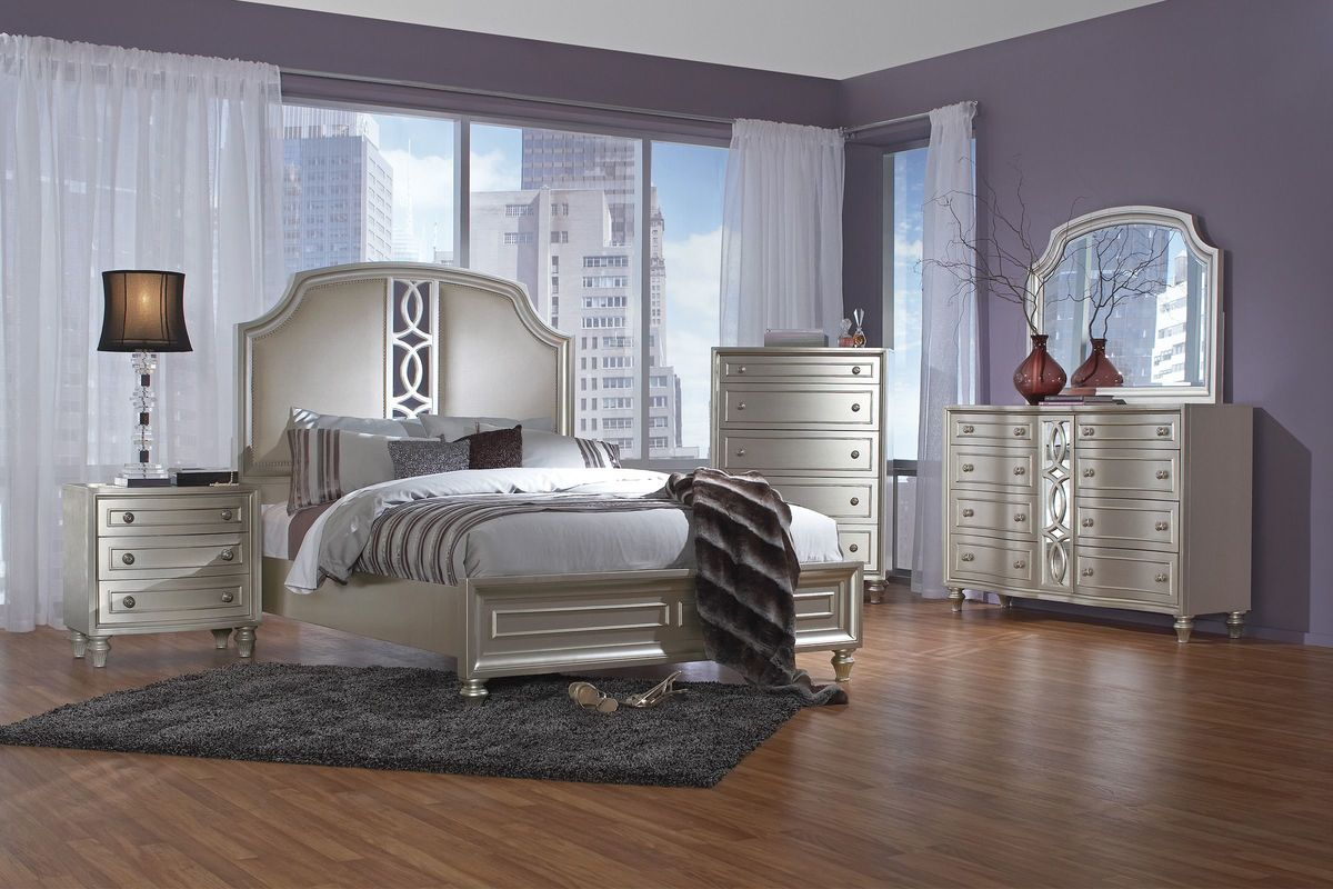 colleen 5 piece queen bedroom set with 32 led tv