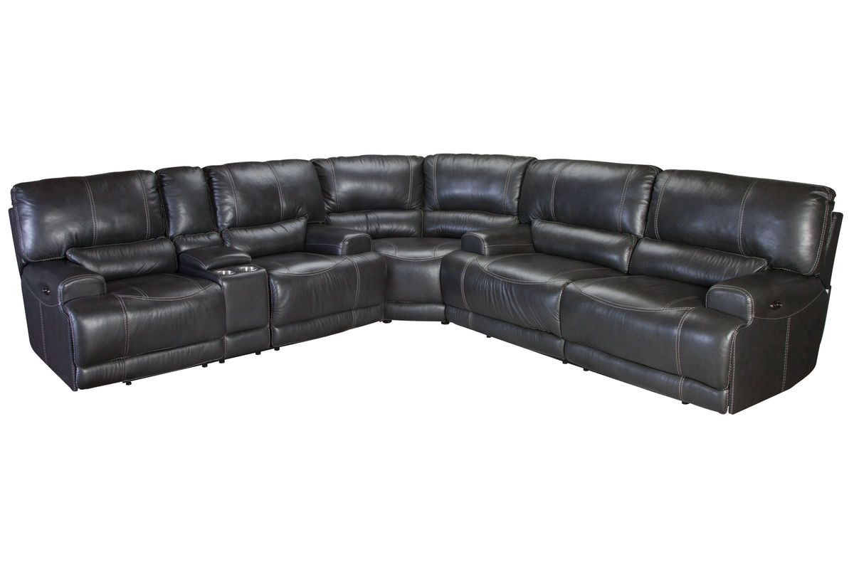Cannon Leather Power Reclining Sectional At Gardner White