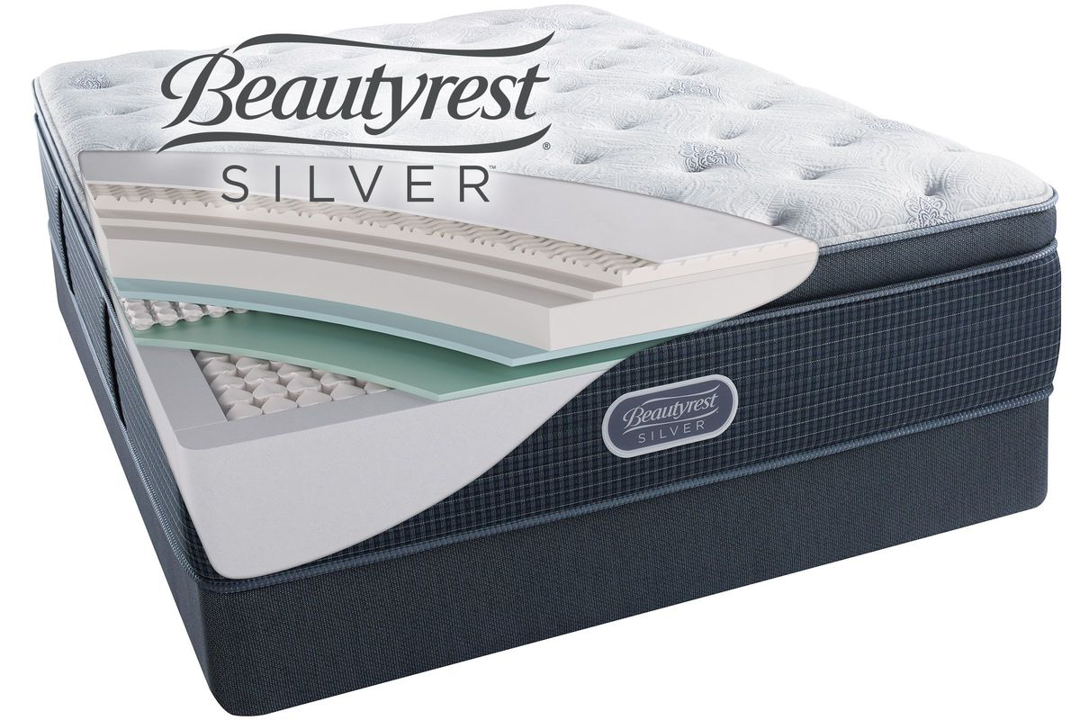 Beautyrest Silver Charcoal Coast Luxury Firm Pillow Top Twin Xl Mattress