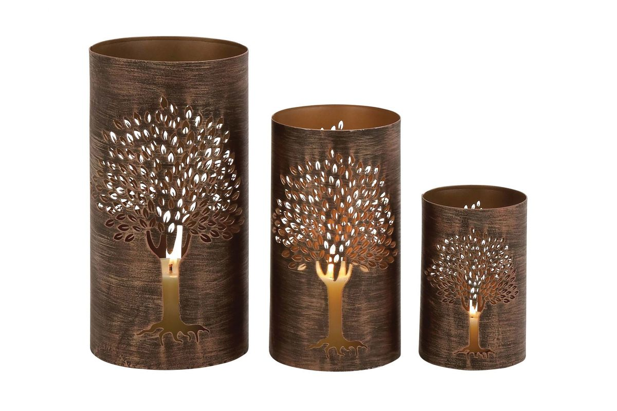 Rustic traditional distressed tree lattice motif candle for Kitchen colors with white cabinets with rustic iron candle holders
