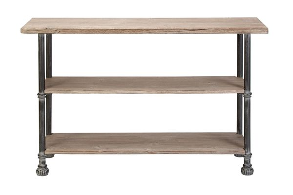 Rustic Industrial Distressed Iron Amp Wood Console Table By Uma