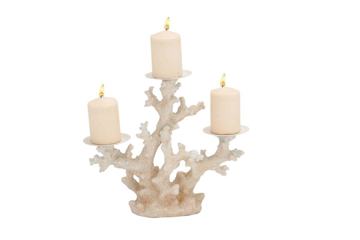 Coastal Living Coral Three Light Candle Holder By Uma At