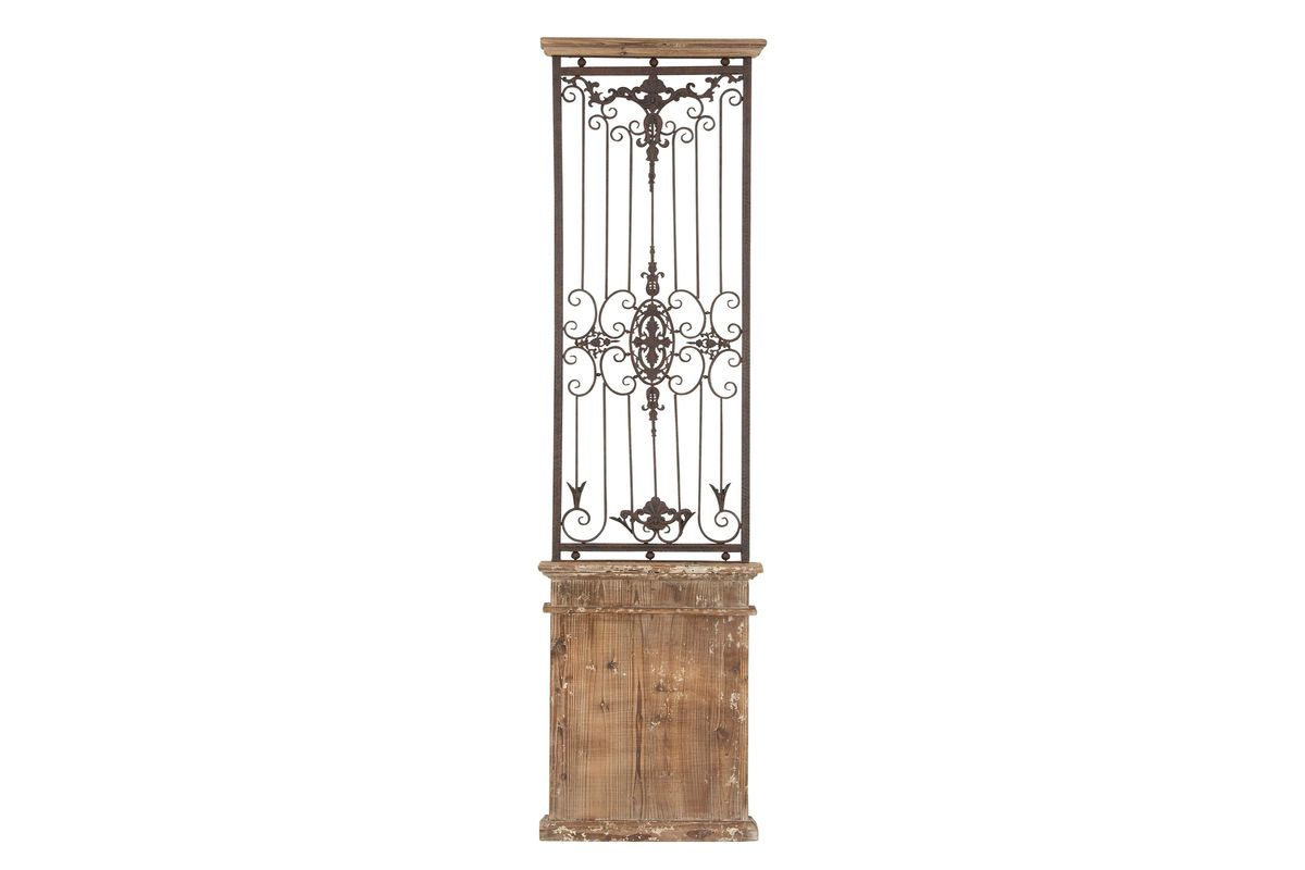 Rustic Wrought Iron Caged Wall Panel At Gardner-White