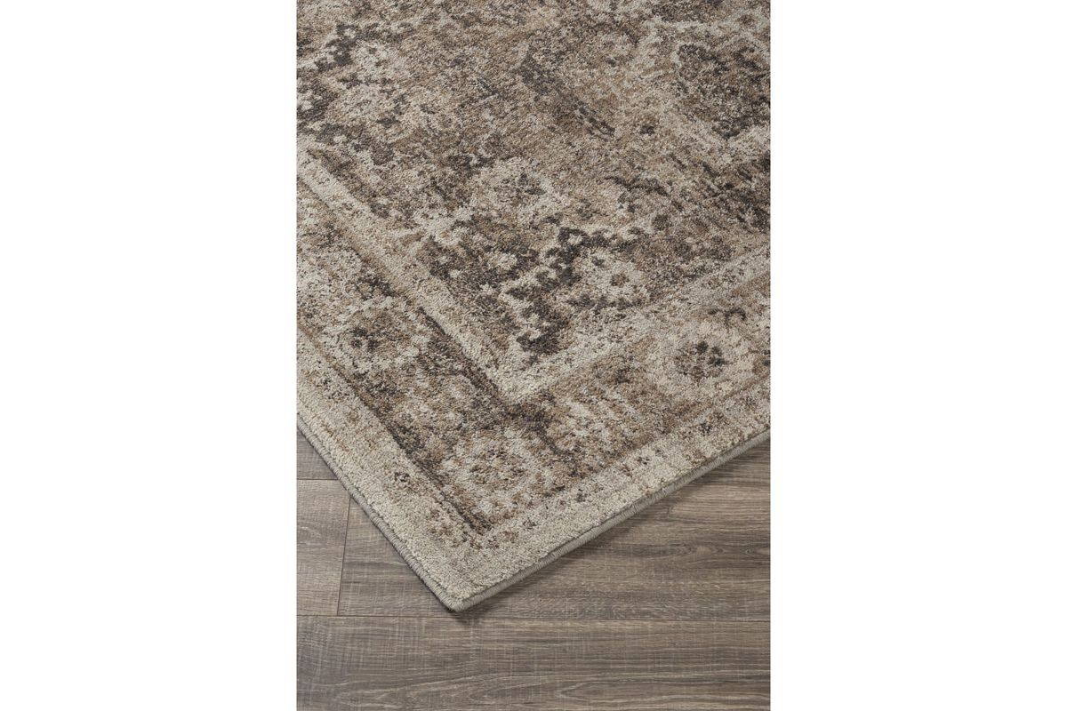 Geovanni Large Rug In Stone Taupe By Ashley At Gardner White