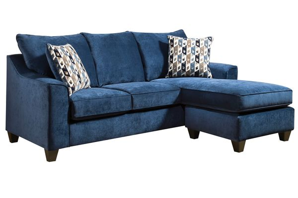 Elizabeth blue sofa with moveable chaise for Blue sectional sofa with chaise