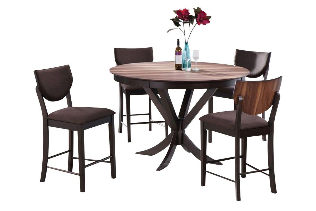 turner round pub table 4 stools at gardner white. Black Bedroom Furniture Sets. Home Design Ideas