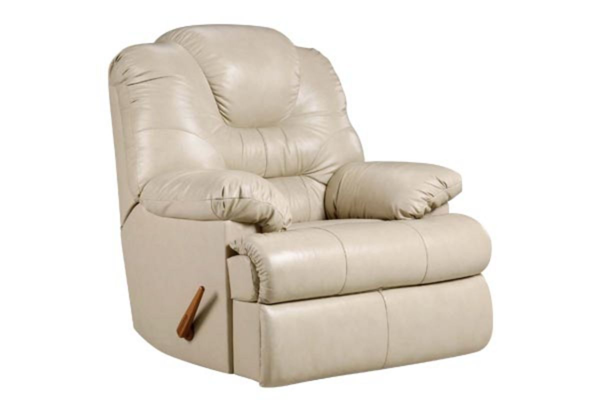 Camelot Beige Leather Rocker Recliner At Gardner White
