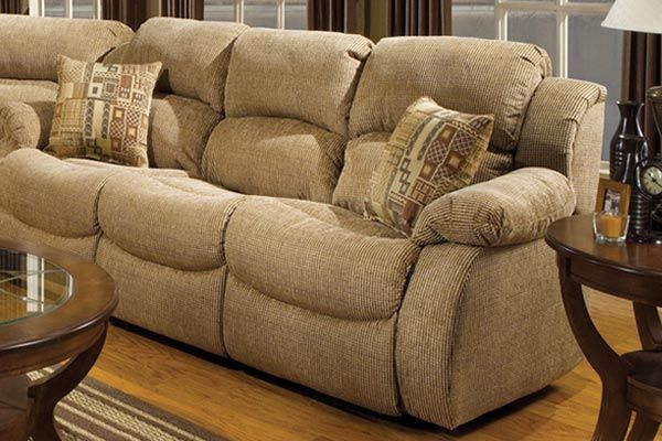 Hud reclining sofa with drop down table massage for Sectional sofa with drop down table
