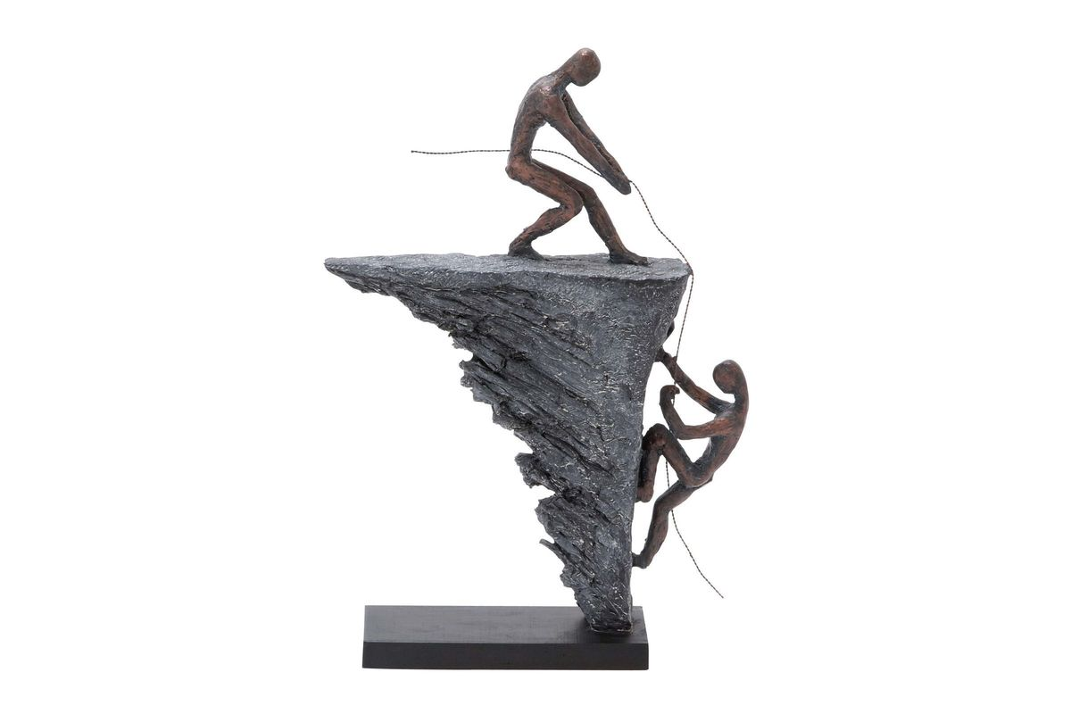 Updated Traditional Abstract Rock Climbing Figures Sculpture